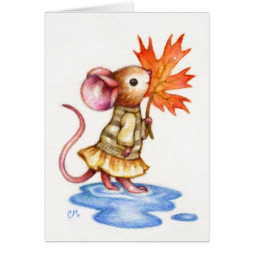 Sweet Autumn - Mouse Art Card