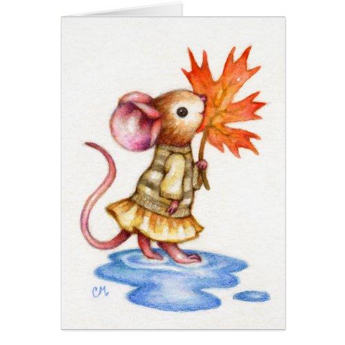 Sweet Autumn - Mouse Art Card