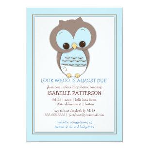 Sweet Baby Owl Boy Whoo Shower Invitation