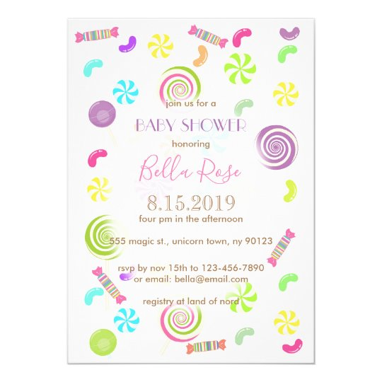 Sweet Candy Baby Shower Invitations