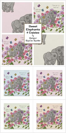 Sweet Elephants And Daisies Craft Supplies