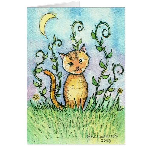 Sweet Little Cat Card by Molly Harrison