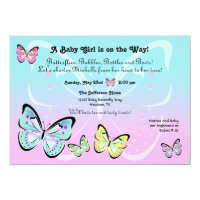 Sweet Pastel Butterfly Invitation