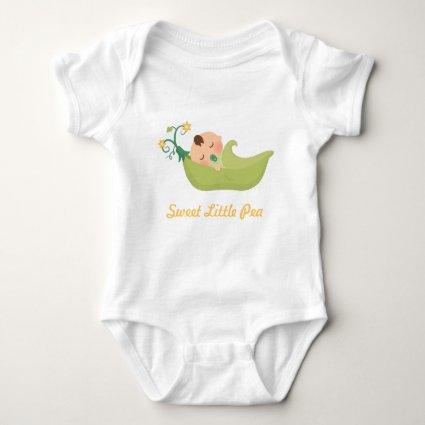Sweet Pea in a Pod For Baby Boy Baby Bodysuit