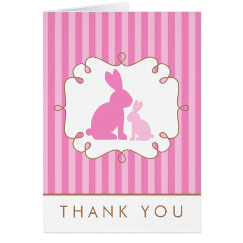 Sweet Rabbits Baby Shower Thank You