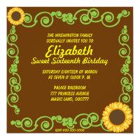 Sweet Sixteen Eternal Spring Invitation Card-Cust.