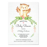 Sweet Woodland Owl Baby Shower Invitation