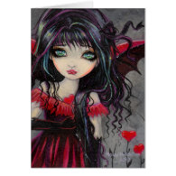 Sweetheart Vampire Fairy Valentine Art Card