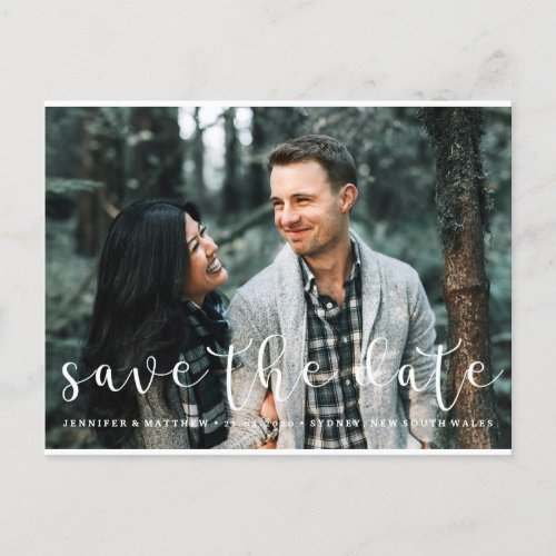 Sweetly Scripted Font Save the Date Postcard Photo