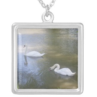 Swimming Swans Necklace necklace
