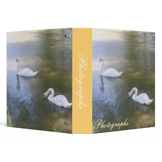 Swimming Swans Photo Binder binder