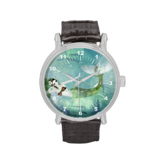 Swimming with Salmon Wristwatches