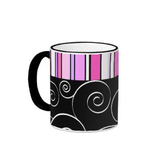 Swirls and stripes - Mug