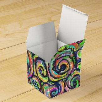 Swirly Art Favor Party Favor Box