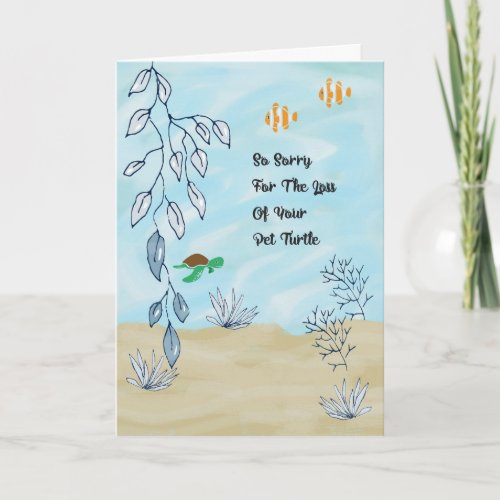 Sympathy Card for Loss of Pet Turtle