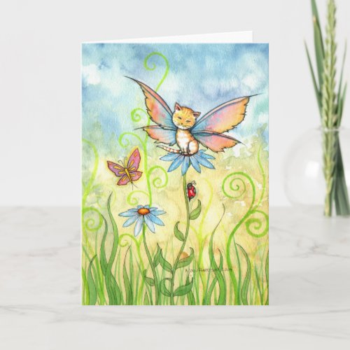 Tabby Fae Greeting Card by Molly Harrison