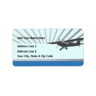 Taildragger Airplane Custom Address Label