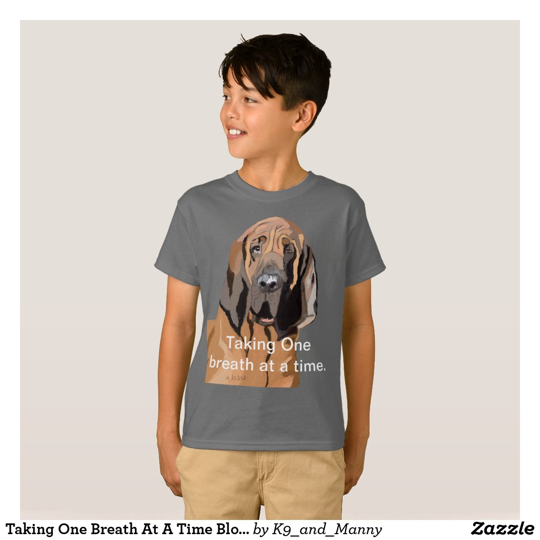 Taking One Breath At A Time Bloodhound T-Shirt