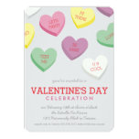 Talking Candy Heart Valentine Day Party Invitation