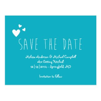 Tall Skinny Save The Date Post Cards