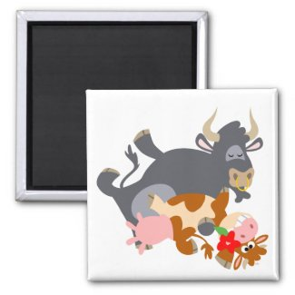 Tango!! (cartoon bull and cow) magnet magnet