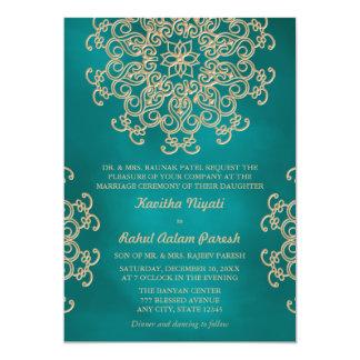 Indian Letterpress Wedding Invitation Wording