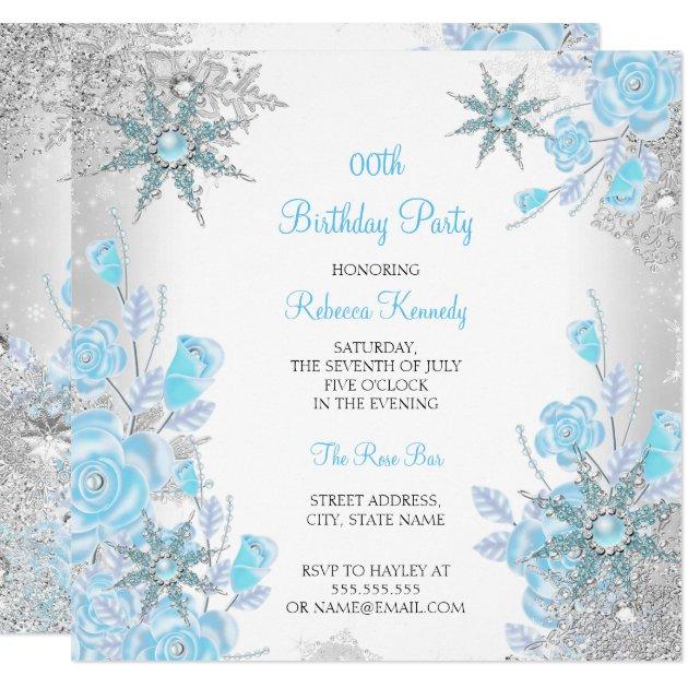 Teal Bridal Shower Invitations