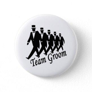 Team Groom Men Button