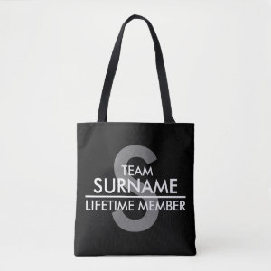 TEAM (Surname) Lifetime Member Tote Bag