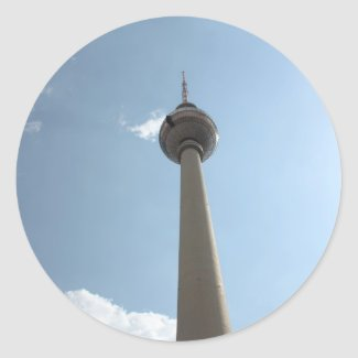 Television Tower in Berlin, Germany Sticker
