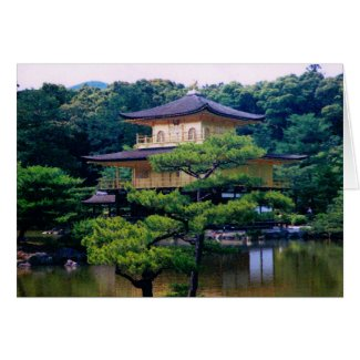 Temple of the Golden Pavilion, Kyoto, Japan Greeting Card