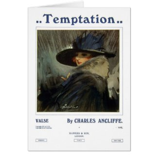 Temptation Greeting Cards
