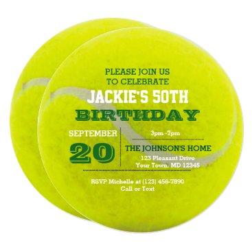Tennis Birthday Invitation