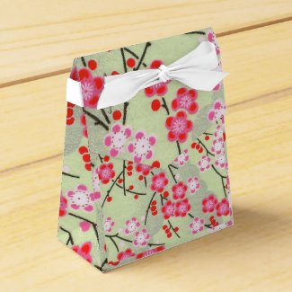 Tent Favour Box Japanese Print 2 Party Favor Boxes