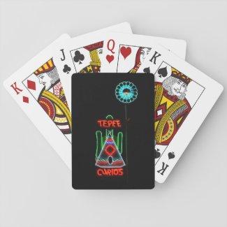 TePee Curios Route 66, Tucumcari, N.M. Poker Cards