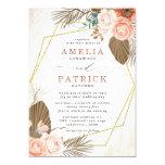 Terracotta Boho Floral Wedding Invitation