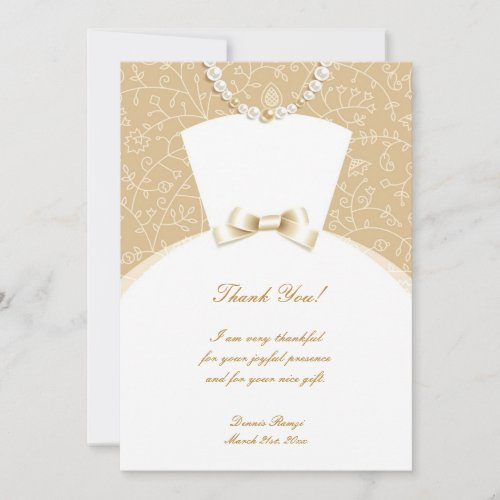 Thank You Bridal Shower Flat Card