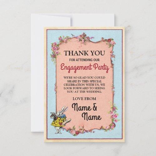 Thank You Card Engagement Wonderland Rabbit