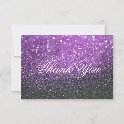 Thank You Card - Purple Lit Nite Fab