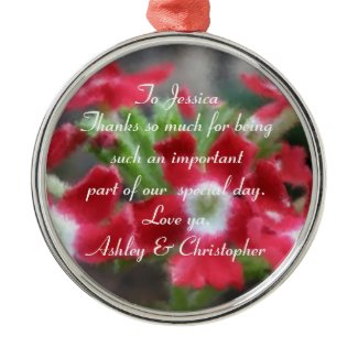 Thank You: Personalized Floral Ornament