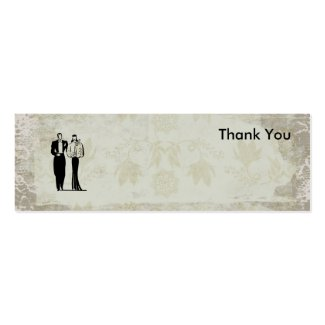 Thank You Photo Cards for Favor and Gift Bags Mini Business Card