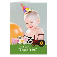 Thank You Photo Farm Card