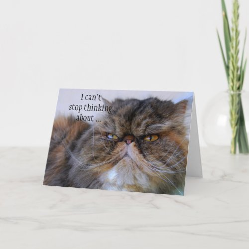 Thank You Proud Persian Kitty Card card