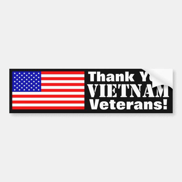 Thank You Vietnam Veterans Bumper Sticker