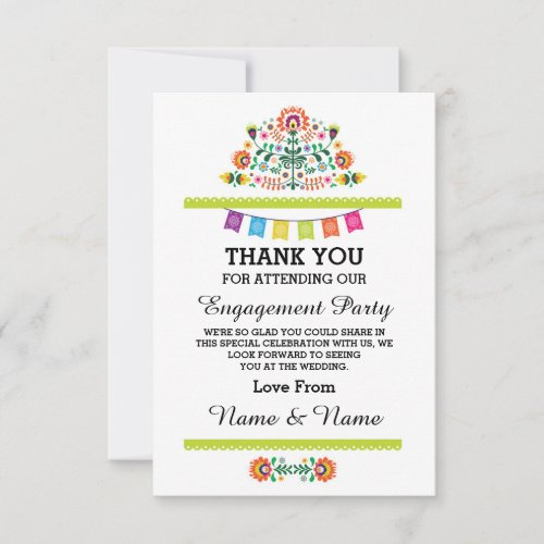 Thank You Wedding Fiesta Lime Mexican Card