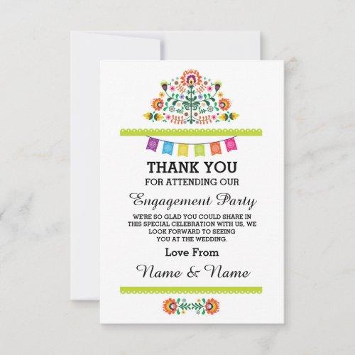 Thank You Wedding Fiesta Lime Mexican Card