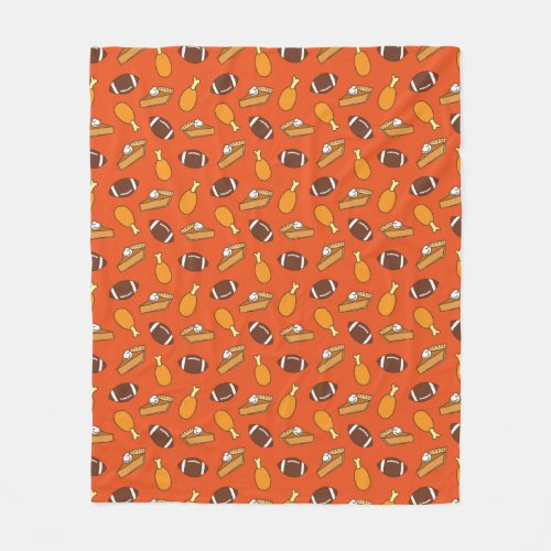 Thanksgiving and Football Fleece Blanket