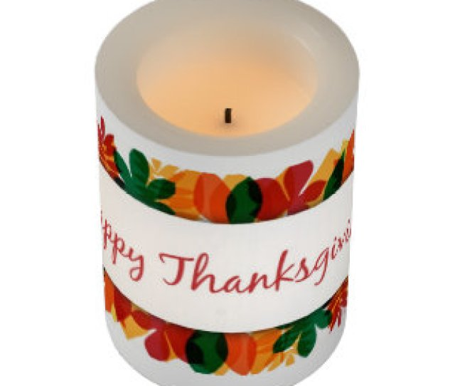 Thanksgiving Led Candle Happy Thanksgiving Flameless Candle