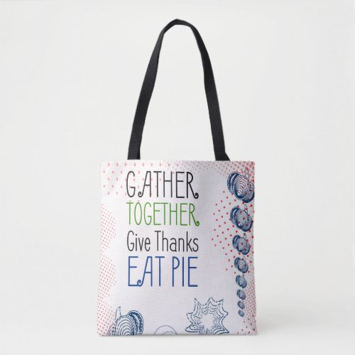 Thanksgiving retro design with halftones tote bag