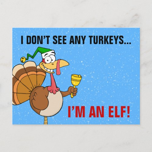 Thanksgiving Turkey Funny Disguise for Christmas Holiday Postcard